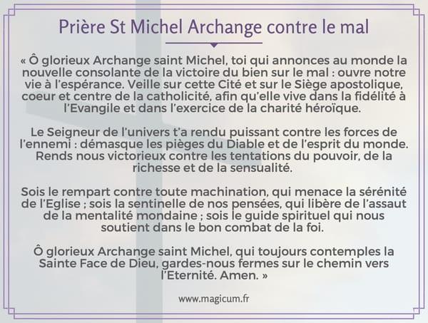 Prière St Michel Archange contre le mal